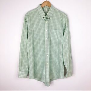 Brooks Brothers Green Plaid Button Down